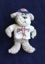 Portland Sea Dogs Slugger Plush Bean Bag Stuffed Animal Jersey Hat MiLB Red Sox
