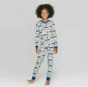 Harry Potter Owl Train Boys 2-Piece Gray Cotton Pajama Set size XXL 18