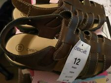 new boys cherokee brown sandals 12