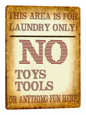 LAUNDRY room METAL SIGN funny great gift vintage style wall decor humor art 700