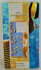 Live Well Home Peva Vinyl Shower Curtain Fish 70 x 72