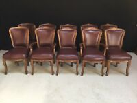 FANTASTIC SET 10 ENGLISH OAK DINING CHAIRS TO BE PROFESSIONALLY FRENCH POLISHED