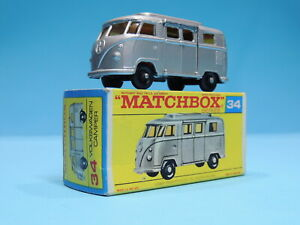 MATCHBOX No 34d VOLKSWAGEN CAMPER SHORT RAISED ROOF VNMB