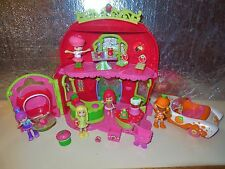 STRAWBERRY SHORTCAKE DOLL BERRY BITTY BAKERY HOUSE CAR FURNITURE ACCESSORIES LOT