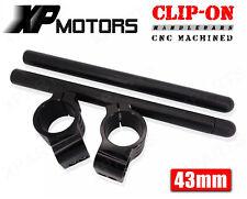 Black 43mm Clipons Clip-On Handlebars Honda CBR600 F4 F4i 1999 2000 2001-2006