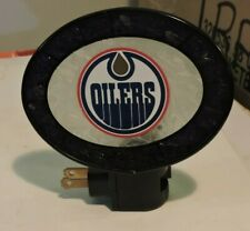 Edmonton Oilers Frosted Glass Night Light