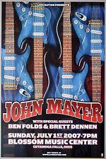 John Mayer 2007 Concert Poster