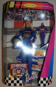 XTRA RARE 1998 NASCAR Barbie in a Hot Wheels Uniform