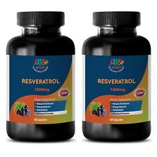 Increase Metabolism - Resveratrol Supreme 1200 - Antioxidant - 2B 120Ct