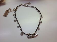 """NWT Uno de 50 Silver-Plated/Leather Necklace w/ """"Wax Sealed"""" Charms $145"""