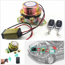 Autos Battery Switch Solenoid Valve Terminal Master Kill System&2*Remote Control