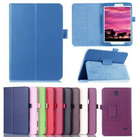 """7"""" 8"""" 10.1"""" Tablet Flip Leather Folio Stand Case Cover For Samsung Galaxy Tab 4"""