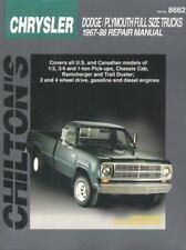 Chrysler Full-Size Trucks, 1967-88 by Chilton repair manual (8662) 20400
