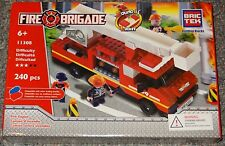 Fire Engine BricTek Building Block Construction Toy Brick FIre Brigade Truck