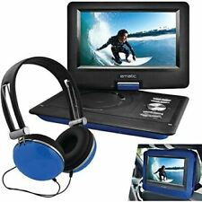 """Ematic 10"""" Portable DVD Player Swivel Screen with Matching Headphones & Car Head"""
