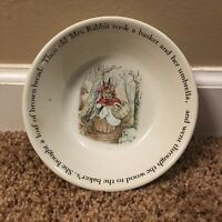 "Peter Rabbit Frederick Warne & CO 1993 Wedgwood Made in England 6"" Bowl"
