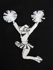 #4448 White,Black Cheerleaders Girl Embroidery Iron On Applique Patch