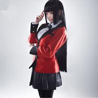 Anime Kakegurui Yumeko Jabami Costumes Full Set School Uniforms Suit Cosplay