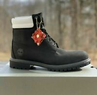 "TIMBERLAND MEN'S PREMIUM 6"" LIMITED EDITION BOOTS DOUBLE COLLAR BLACK A2B2N"