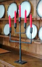 5  Branch Candelabra Candle Vintage Iron Antique Style Hand Forged Sconce