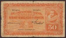 Ndl. Indien / Netherlands Indies 50 Gulden 1930 Pick 72c (5) VG