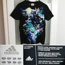 Adidas Urban Artist Series T-Shirt S Mr Jago Good Vs Evil Graffiti Black Mens