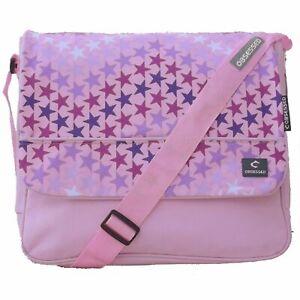 Ladies Messenger Hand Bag Handbag Satchel Travel Shoulder Canvas Satchel Pink