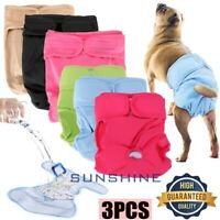 Reusable Washable Dog Diapers(3 Pack) - Dog Wraps for both Male and Female Dogs