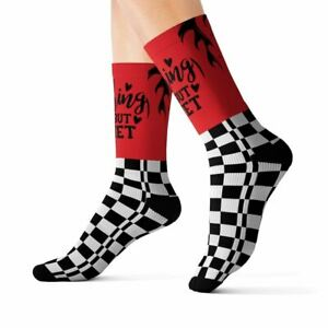 Woody Epps Unisex Red and Black Nothing But Net Sublimation Socks