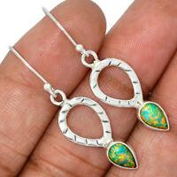 Ethiopian Opal 925 Sterling Silver Earrings Jewelry AE98748 176O