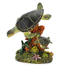 Aquarium Ornaments Swimming Sea Turtles Fish Tank Aquatic Decor Supplies Medium