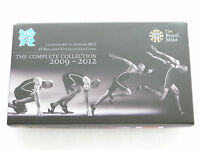 2012 Royal Mint London Olympic Games Countdown BU £5 Five Pound 4 Coin Set Boxed