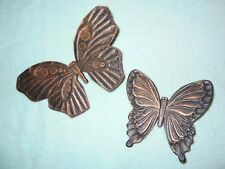 Set of 2 golden butterflies Vintage Home Interiors