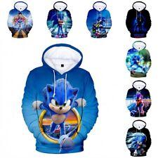 3D Sonic The Hedgehog Full Printed Hoody Kids Boys Coat Jacket Hoodie Tracksuit
