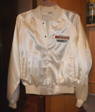 Vintage. Auburn Sportswear Usa White Satin Bomber Jacket Winn Dixie Size Xl