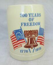 200 Years Of Freedom Stein 1776-1976 Ceramarte AMERICAN BICENTENNIAL