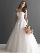 Pretty white/ivory tulle Wedding Dress Bridal Gown Stock Size: 6 8 10 12 14 16+