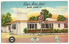 Baton Rouge Louisiana Postcard Street View Roy's Motor Hotel, Hwy 61 & 65 #83784