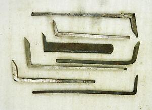 Eisen für Grundhobel - 7 Stück - verschiedene Formen