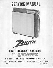 Zenith Television Receivers Service Manuals Volume 2 * CDROM * PDF * TV Repair