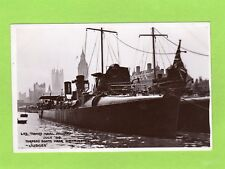 London Thames Naval Pageant Torpedo Boats 1909 RP pc used Judges L72 Ref J328
