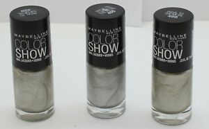 3PK Maybelline Color Show Nail Polish Pedal to the Metal 400 .23 oz
