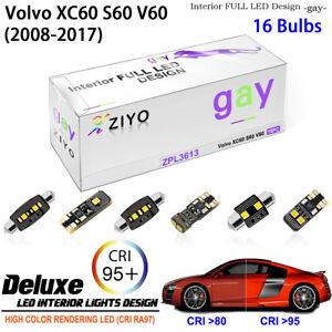 LED Light Bulbs Interior Dome Light Kit White For 2008-2017 Volvo XC60 S60 V60