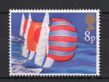 8p SAILING UNMOUNTED MINT WITH BLACK PARTIALLY OMITTED