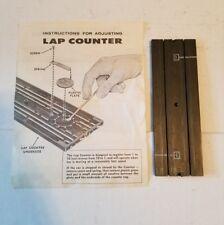 "Aurora Model Motoring Slot Car Track #1526 Auto Lap Counter 9"" Road Section"