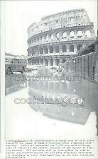 1972 Rome Coliseum Reflection in Rain Puddle 1970s Press Photo