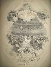 THEATRE LA CLAQUE CHEVALIERS DU LUSTRE PIERREFONDS SAINT-SULPICE GRAVURES 1868