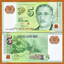 Singapore, 5 Dollars, ND (2010), Polymer, P-New, UNC > one square