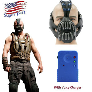 Bane Mask With Voice Charger Batman Cosplay Helmet1:1Scale Replica US Ship Adult