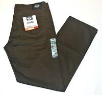Men's Dockers Dark Brown Jean Cut Straight Fit All Seasons Tech Stretch Pants
